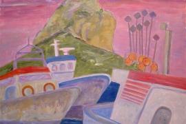 Calper Hafen mit Peñon de Ifach bei Morgenstimmung