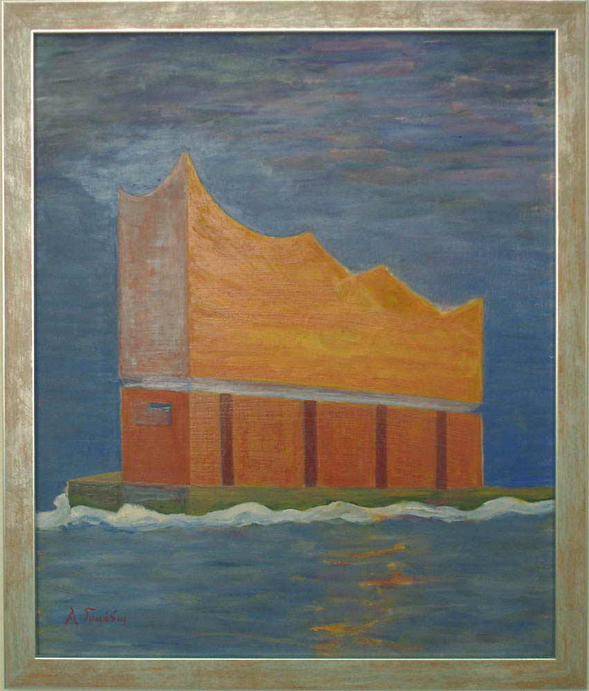 Elbphilharmonie bei Sonnenuntergang