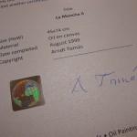 Echtheitszertifikat - Certificate of Authenticity
